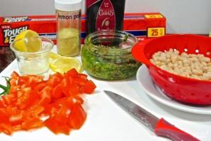 Палтус с овощами в духовке - фото шаг 1