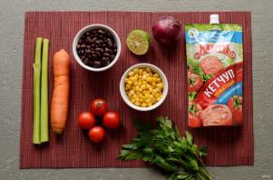 Мексиканский суп с кетчупом - фото шаг 1