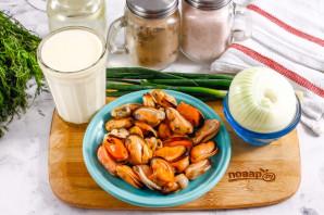 Мидии в кокосовом молоке - фото шаг 1