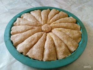 Рожковый пирог с яичной начинкой - фото шаг 9