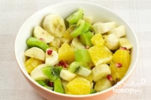 Фруктовый салат с киви - фото шаг 4