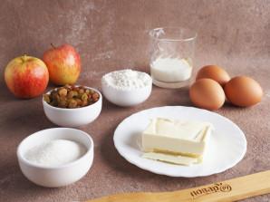 Кекс с изюмом и яблоками - фото шаг 1