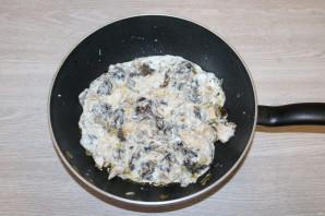 Паста с грудкой и грибами - фото шаг 9