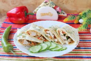 Мексиканская лепешка с курицей - фото шаг 16