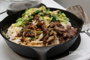 Лапша с говядиной и китайской капустой - фото шаг 8
