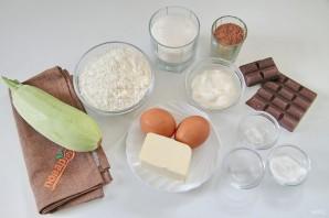 Шоколадный листовой торт с цуккини - фото шаг 1