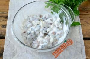 Печеный картофель с селедочным соусом - фото шаг 4