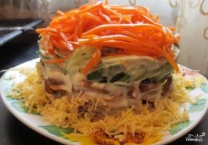 Cалат с корейской морковью и грибами - фото шаг 9