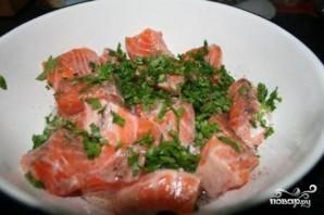 Шашлык из красной рыбы - фото шаг 2