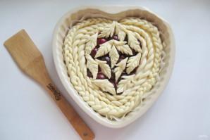 Дрожжевой пирог со сливами - фото шаг 13