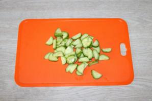 Хрустящий зелёный салат - фото шаг 3