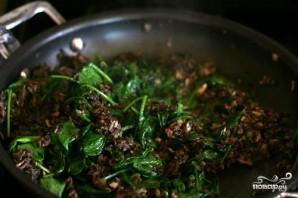 Лазанья с грибами и шпинатом - фото шаг 3