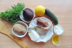 Шведский салат с сельдью