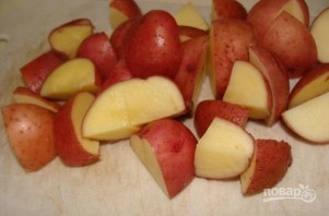 Вешенки с картошкой в горшочках - фото шаг 4