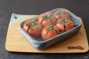 Соленые фаршированные помидоры - фото шаг 6