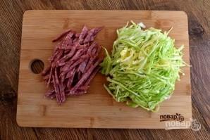 Салат на раз, два, три - фото шаг 2