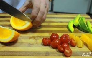 Салат с авокадо и апельсинами - фото шаг 6