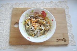 Салат с языком и морковью - фото шаг 15