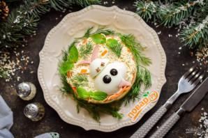Салат с ветчиной и корейской морковью на год Быка - фото шаг 14