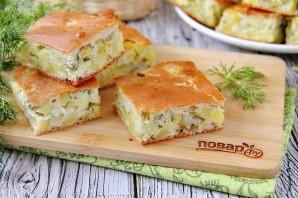 Заливной пирог с картошкой на кефире - фото шаг 13