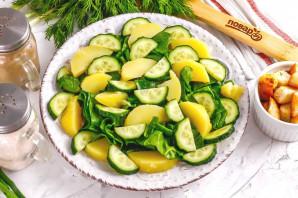 Салат с тунцом и сухариками - фото шаг 4