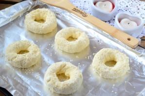 Творожные бублики с сыром - фото шаг 3