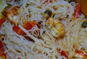 Лапша с морепродуктами по-китайски - фото шаг 5