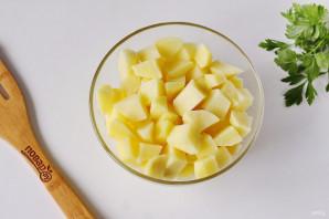 Сырный суп из горбуши - фото шаг 3