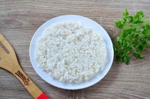 Салат с рисом и шпротами - фото шаг 4