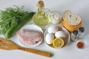 Салат из куриной грудки с сухариками - фото шаг 1