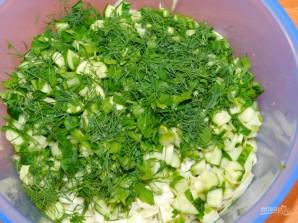 Зеленый овощной салат - фото шаг 4