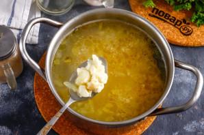 Суп с сыром косичка - фото шаг 5