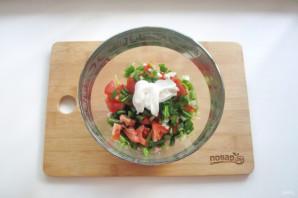Салат из спаржевой фасоли с ветчиной - фото шаг 5