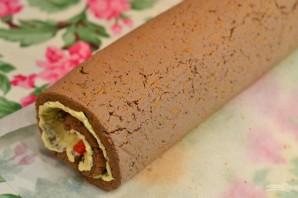 Рулет из отварной печени с пикантной начинкой - фото шаг 12