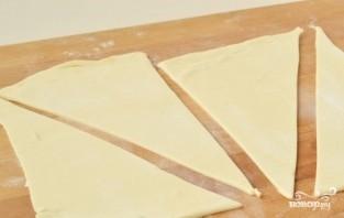 Рогалики из слоеного теста с джемом - фото шаг 1