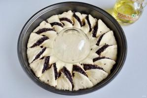 Пирог с шоколадной пастой, маком и орехами - фото шаг 8