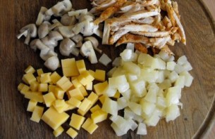 Салат королевский с грибами - фото шаг 1