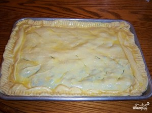 Слоеный пирог с брокколи - фото шаг 5