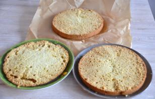 Лимонный торт с белковым кремом - фото шаг 14