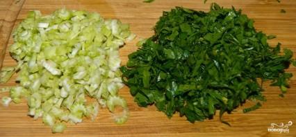 Постный салат с фасолью - фото шаг 5