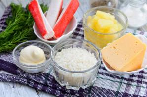 Салат с рисом и ананасом - фото шаг 1