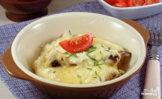 Шампиньоны с сыром в духовке - фото шаг 6