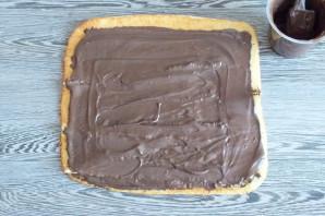 Рулет с шоколадной пастой - фото шаг 9