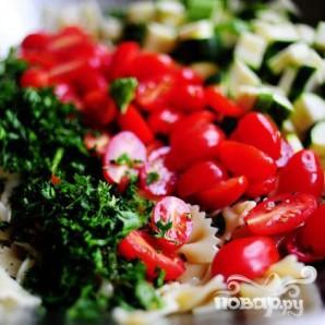 Паста салат с помидорами, цукини, и сыром Фета - фото шаг 14