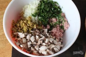 Шарики из индейки с грибами и оливками - фото шаг 1