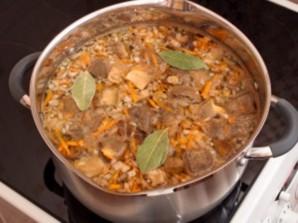 Суп из белых грибов замороженных   - фото шаг 4