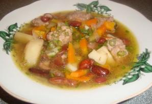 Фасолевый суп с фрикадельками - фото шаг 5