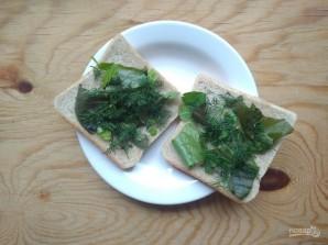 Горячие бутерброды с зеленью и оливками - фото шаг 4