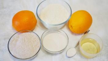 Постный пирог с апельсинами - фото шаг 1