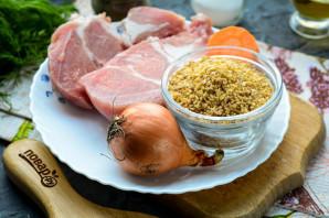 Ячневая каша с мясом - фото шаг 1